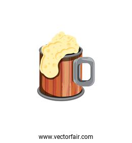 jar wooden beer isolated icon
