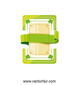 seal stamp with ribbon isolated icon