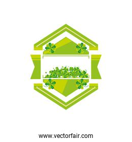 seal stamp with clovers icon