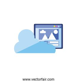 cloud computing with web page template