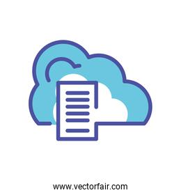 cloud computing with document paper
