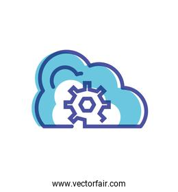 cloud computing with gear icon