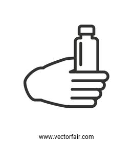 bottle drink isolated icon