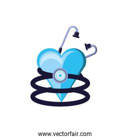 stethoscope medical tool with heart