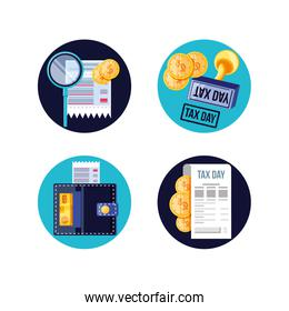 set icons of tax day