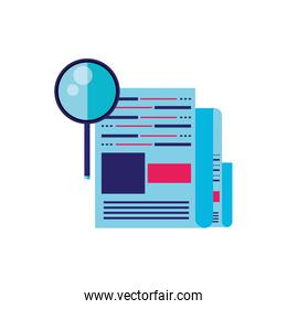 search magnifying glass with document