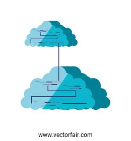 clouds computing isolated icon