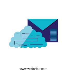 envelope mail with cloud computing