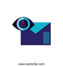 envelope mail eith cyber security eye