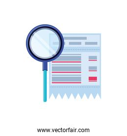 search magnifying glass with voucher