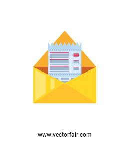 envelope mail with voucher isolated icon