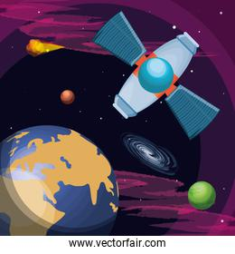 universe and space satellite