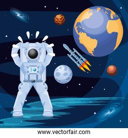 astronaut in the space character