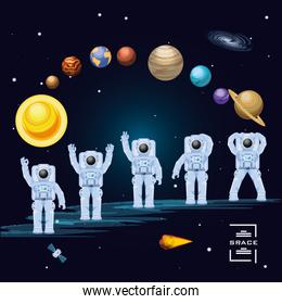astronauts in the space characters