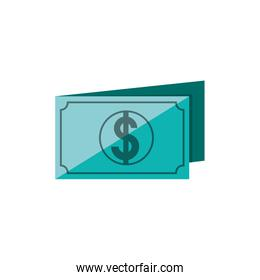 bill dollar isolated icon