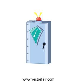 safe box security with alarm light and shield