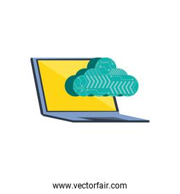 laptop computer with cloud computing