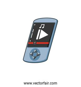 music player device isolated icon