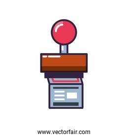 rubber stamp handle with document