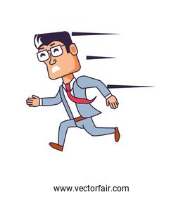 businessman running avatar character