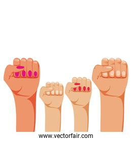 hands fist isolated icon