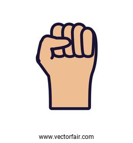 hand fist isolated icon