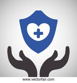 Insurance design.  protection concept.  isolated illustration