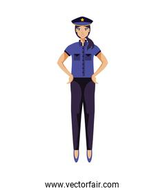 police officer woman avatar character