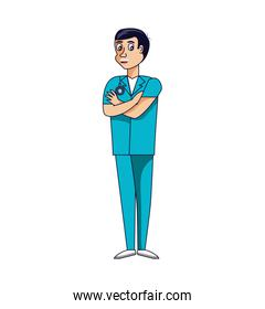 doctor professional avatar character vector ilustration