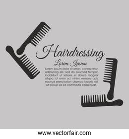 Barber shop. hair care concept.  isolated illustration