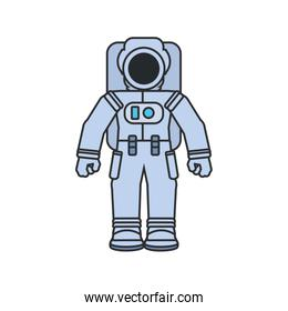 astronaut suit isolated icon vector ilustration