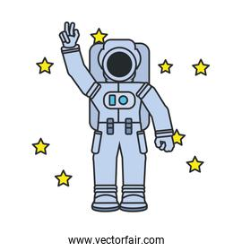 astronaut suit with set of stars