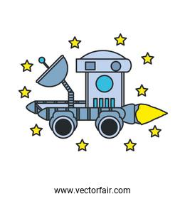 space explorer car with set of stars