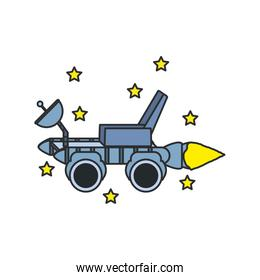 space explorer car with stars set