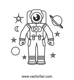 astronaut suit with set icons