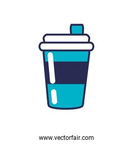 beverage in plastic container vector ilustration