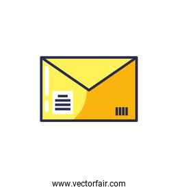 envelope mail isolated icon vector ilustration