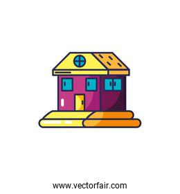 house facade isolated icon vector ilustration