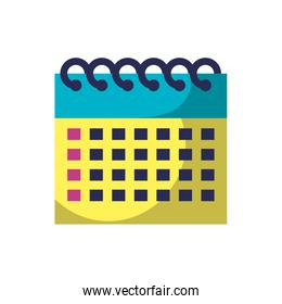 yellow and green calendar reminder date