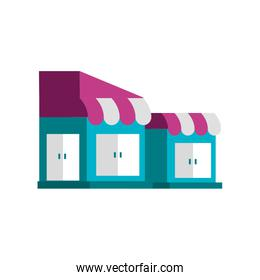 store buildings facade isolated icon