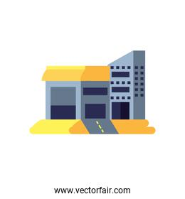 warehouse building structure isolated icon