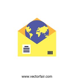 envelope mail communication with planet earth