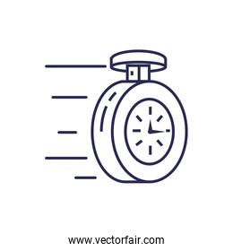 chronometer time precision isolated icon