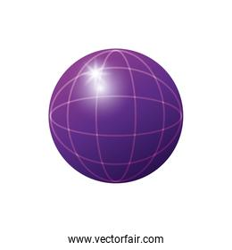 sphere planet browser icon vector ilustration