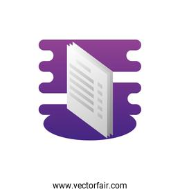 papers documents data icon vector ilustration