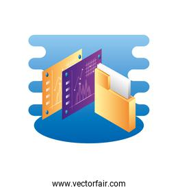 folder documents data with statistics webpages