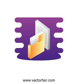 folder documents data with document