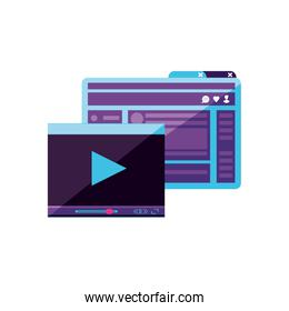 video media player template with webpage