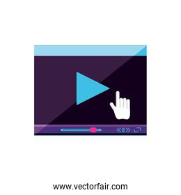 video media player template vector ilustration