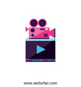 video media player template with camera